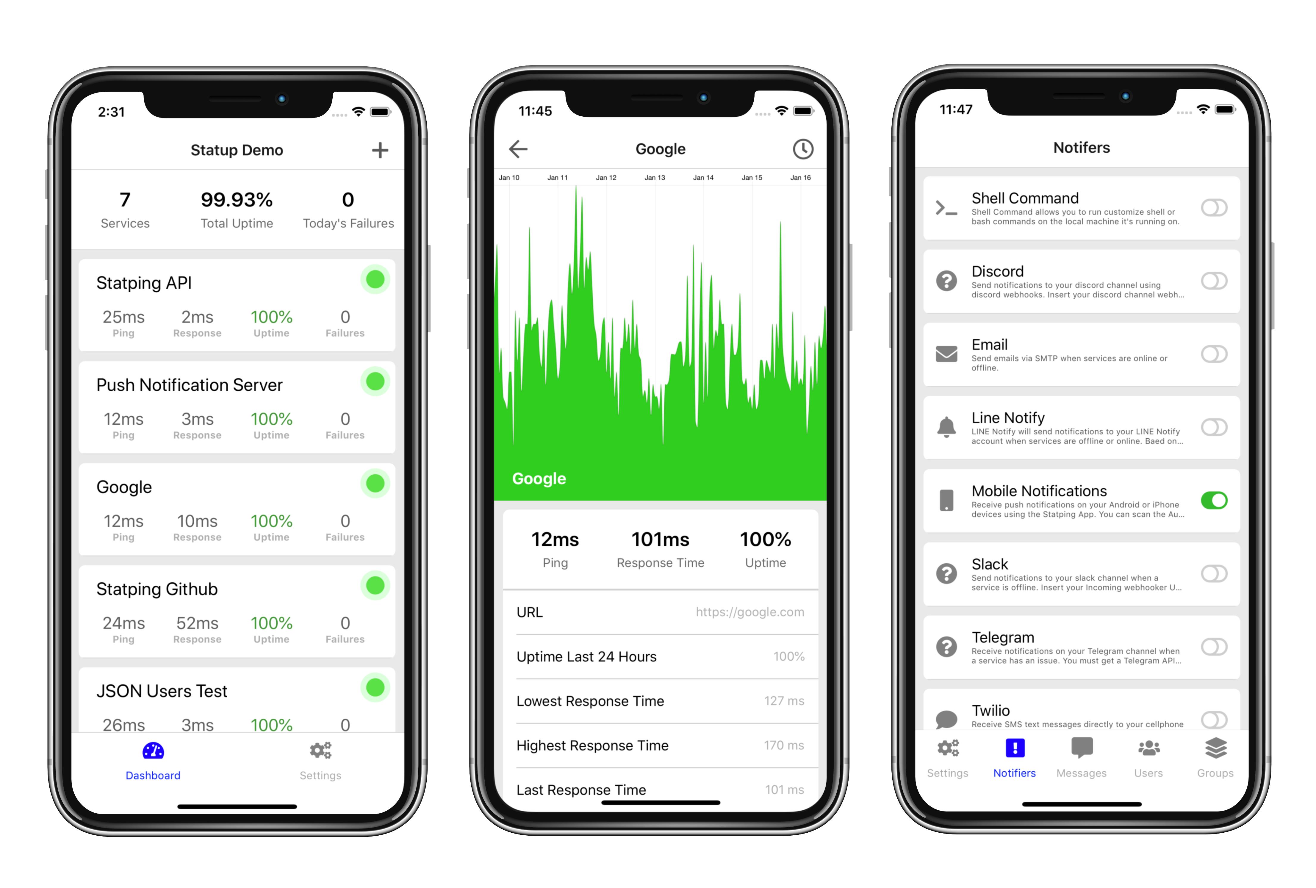 Mobile App · hunterlong/statping Wiki · GitHub