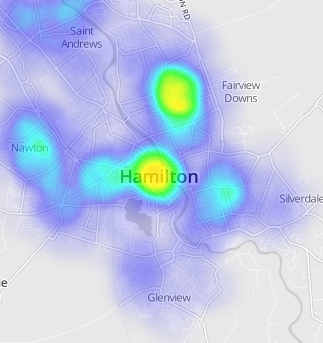 Heatmap changes after zooming · Issue #3 · Leaflet/Leaflet heat · GitHub