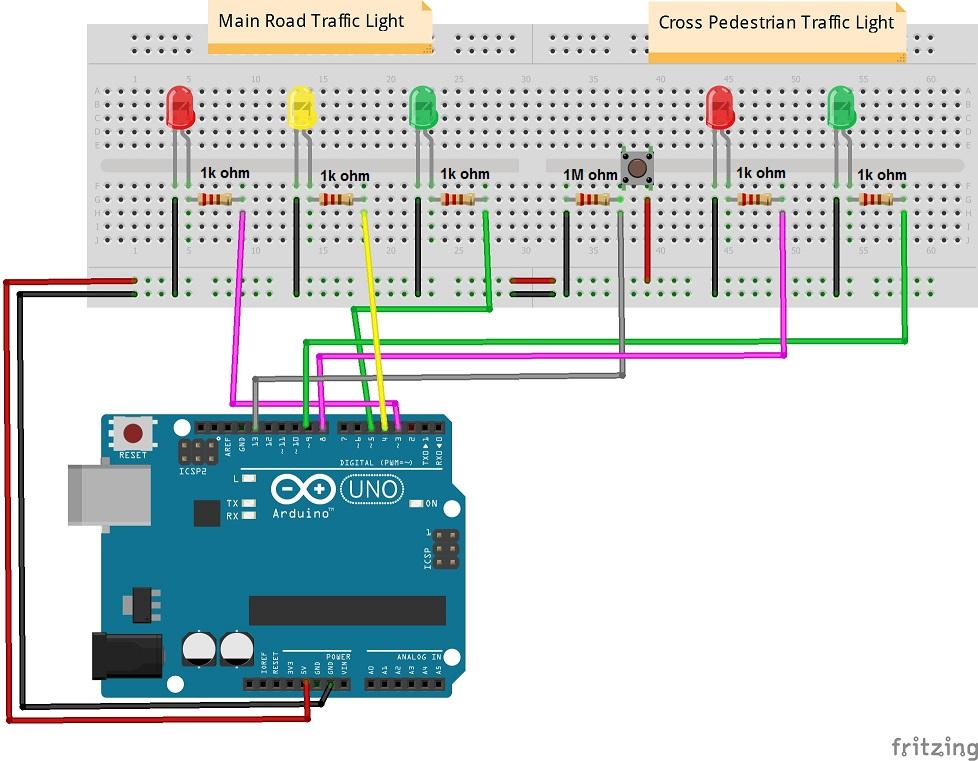 arduino traffic light wiring diagram github - nidhal-mars/arduino-pedestrian-crossing-traffic ... arduino cnc shield wiring diagram