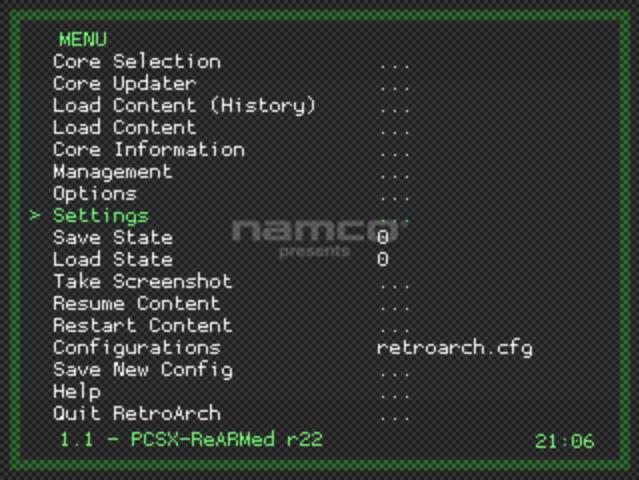 RetroArch Settings