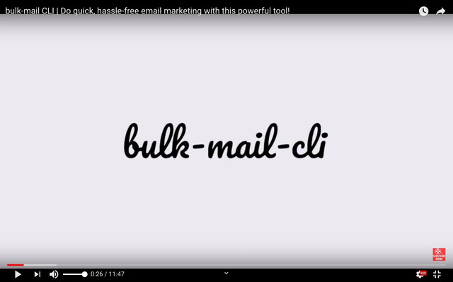 Introduction to bulk-mail-cli