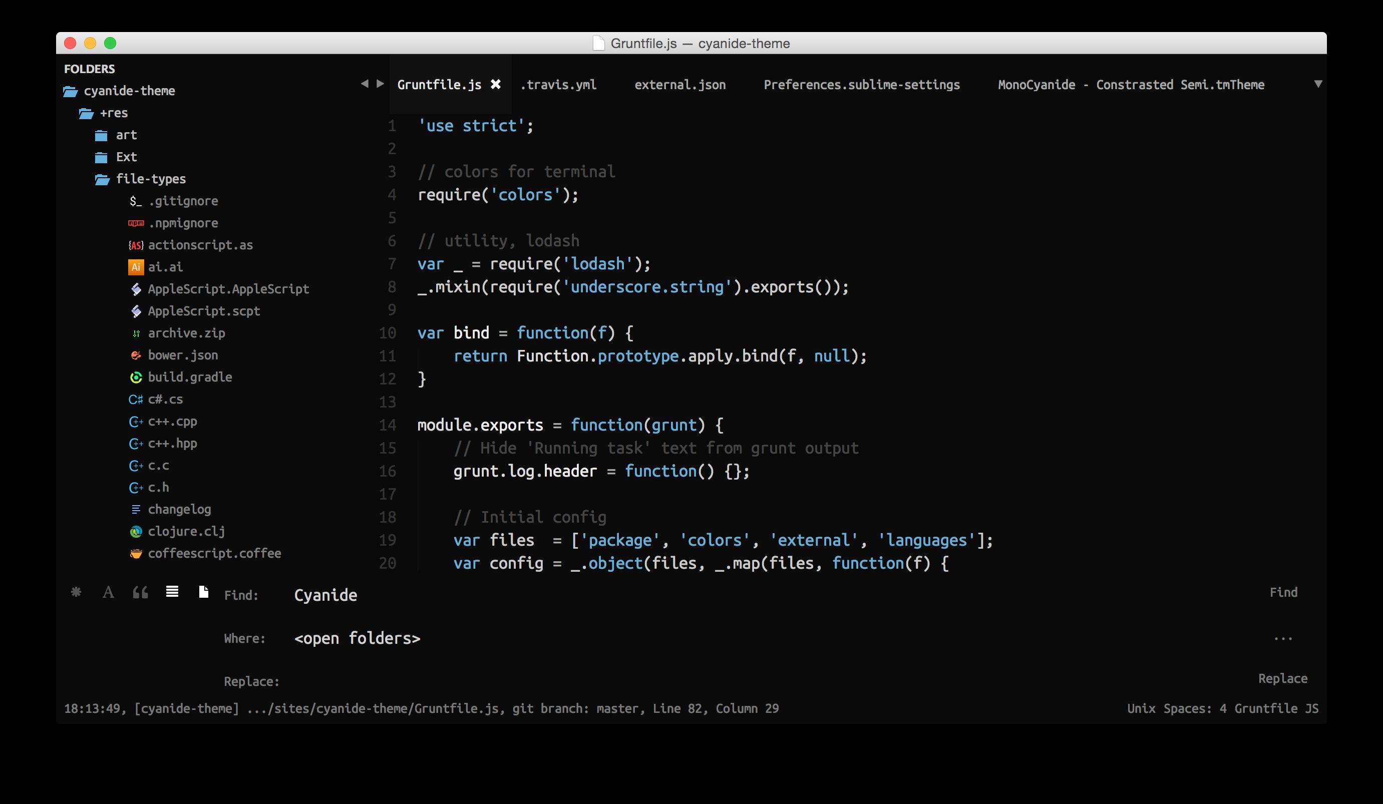 Default Theme Screenshot 2
