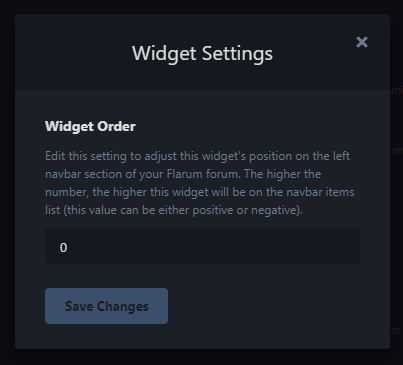 Widget Default Setting