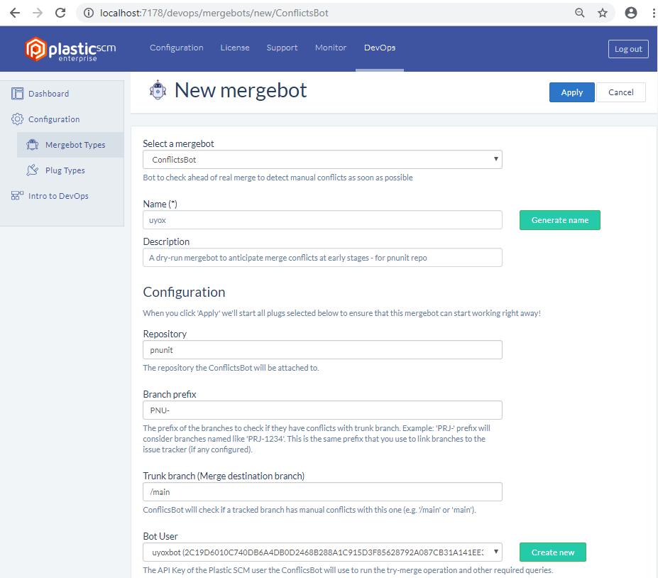 Plastc DevOps - New ConflictsBot instance - Page 1