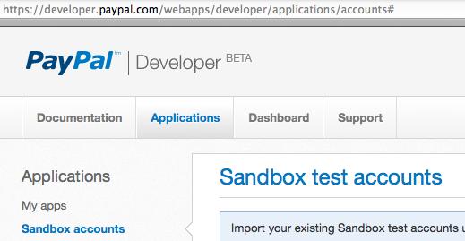 how to get paypal sandbox api signature