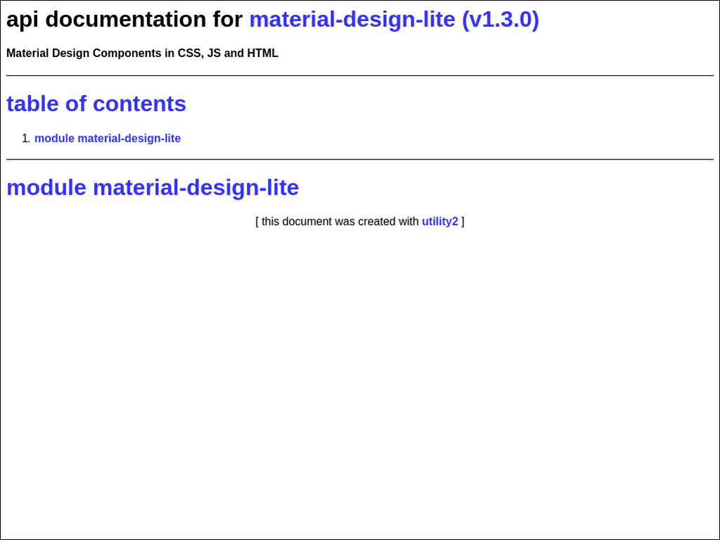 npmtest-material-design-lite 0 0 2 on npm - Libraries io