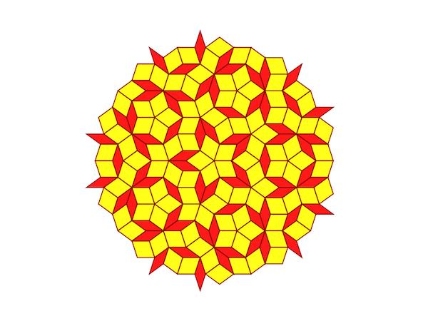 A circular penrose tiling
