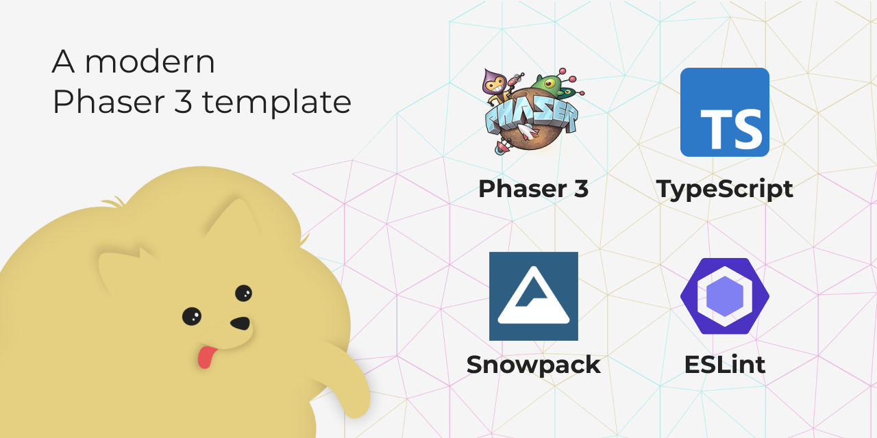 A modern Phaser 3 template: Phaser 3 + TypeScript + Snowpack + ESLint