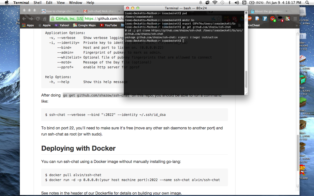 Can't build ssh-chat with Go on Mac OS X 10 6 8 · Issue #115