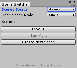 Scene Switcher Window
