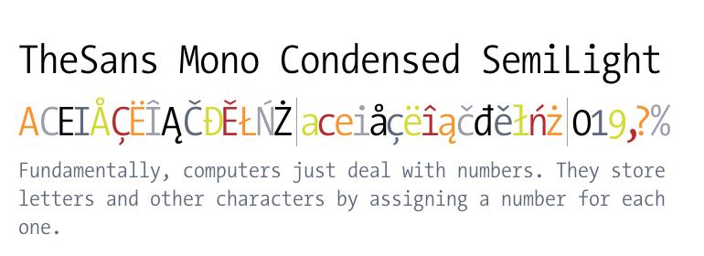 TheSans Mono Condensed