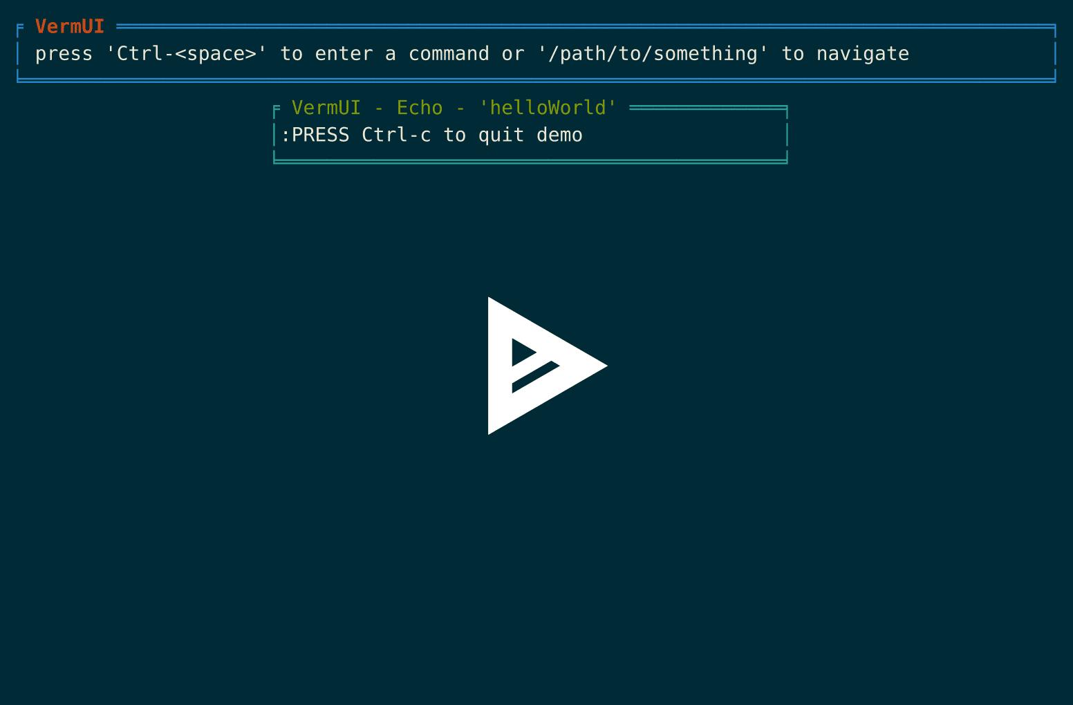 GitHub - verdverm/vermui: React-like terminal UI Framework