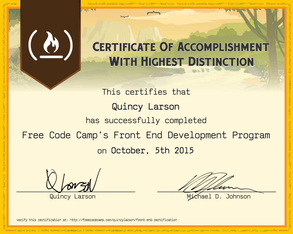 Freecodecamp Wikifree Code Camp Front End Development Certificate