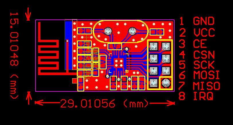 PCB pinout