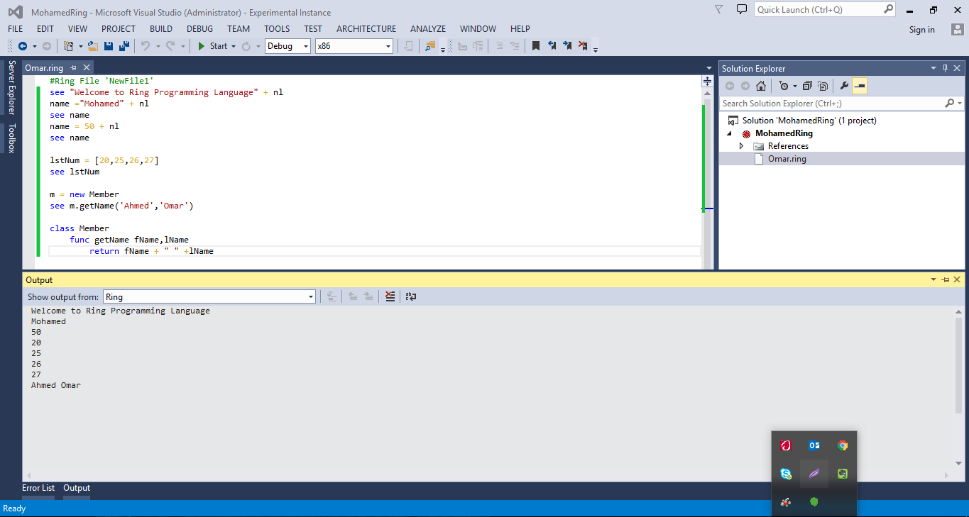 Visual Studio Extension For Ring
