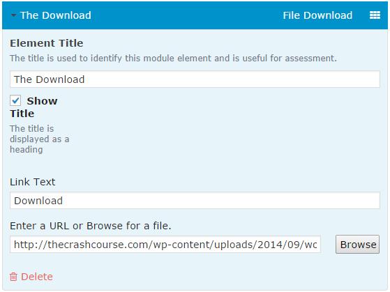 CoursePress - Course - Units - Elements - File Download