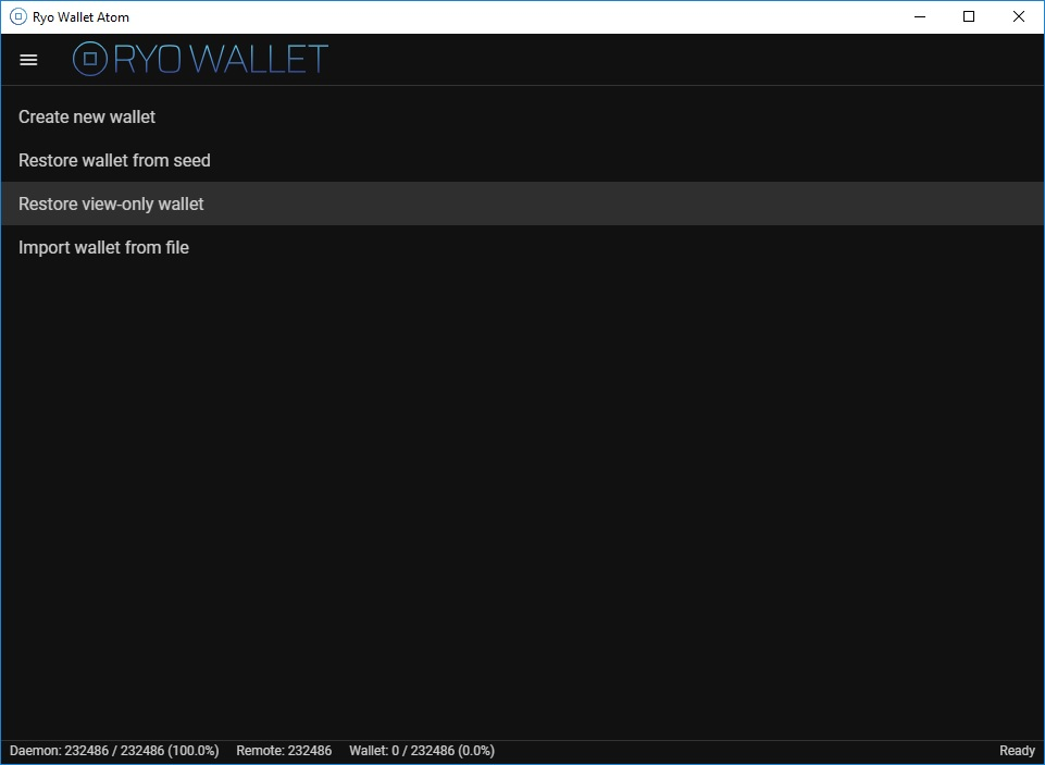 restore view-only wallet
