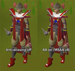 Example of anti-aliasing