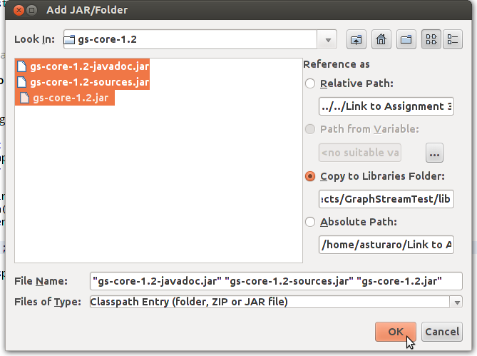 Importing libraries in NetBeans · Issue #108 · graphstream