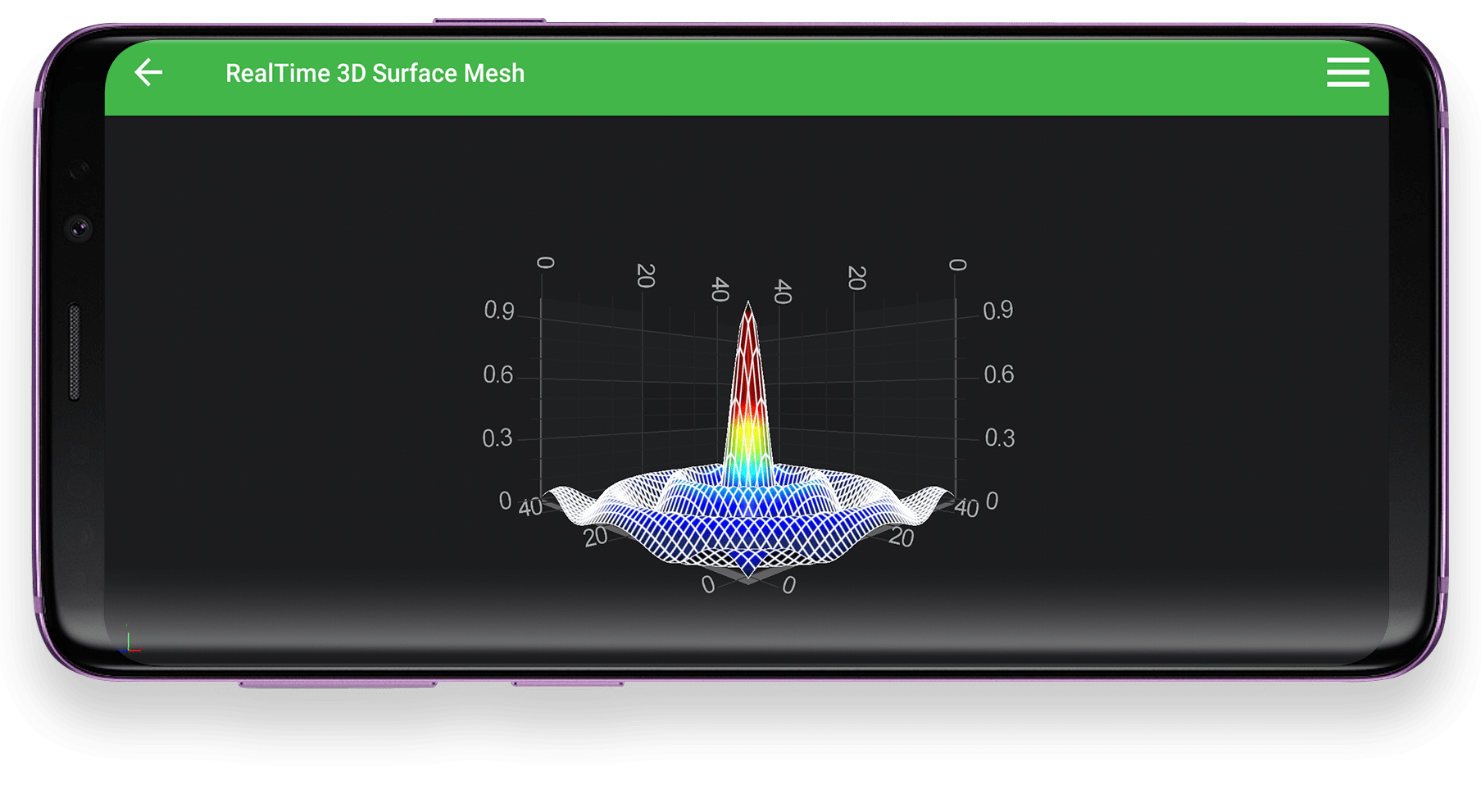 Android Realtime 3D Surface Mesh Example