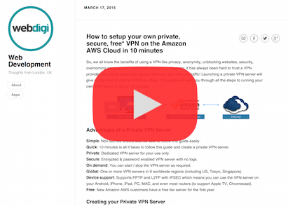 GitHub - webdigi/AWS-VPN-Server-Setup: Setup your own private