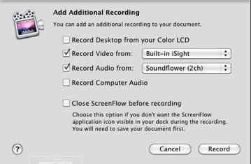 Add additional recording