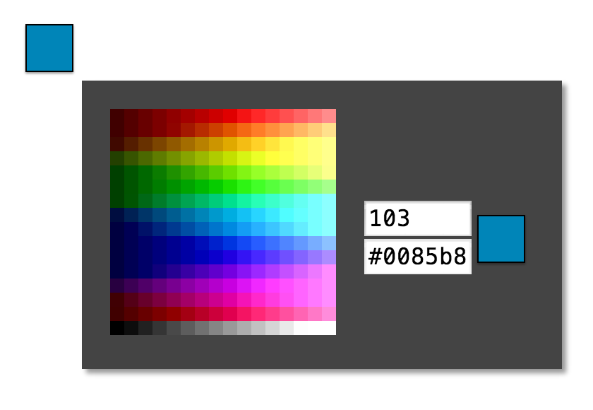 ... - bilalq/eight-bit-color-picker: Color Picker for 256 color palettes