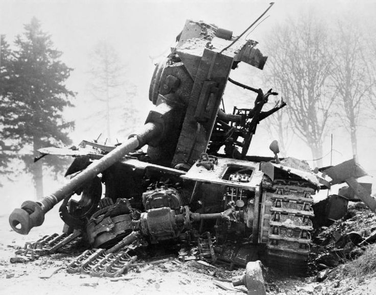 wrecked tank