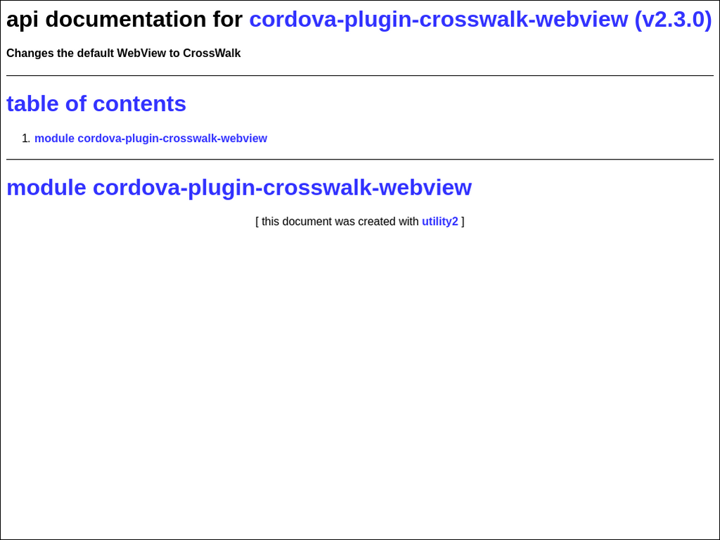 npmtest-cordova-plugin-crosswalk-webview 2017 4 26 on npm - Libraries io