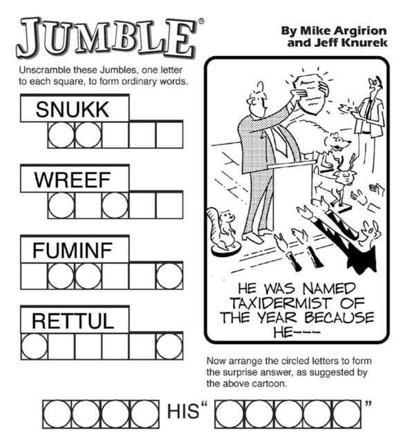 Letter Word For Jumble