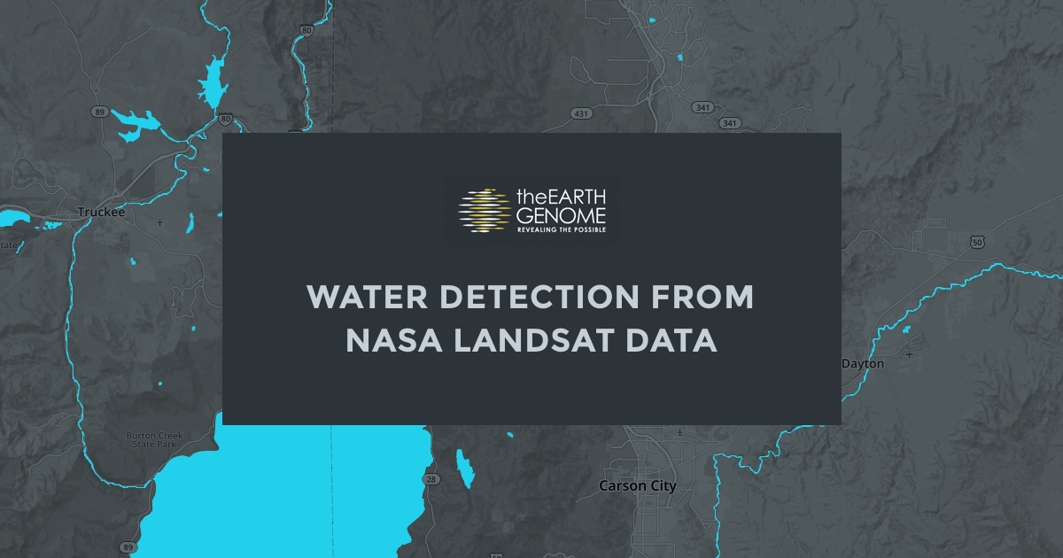 Water detection from NASA Landsat data