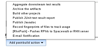 Add post-build action