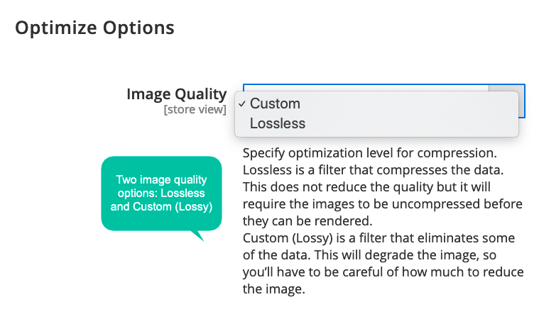 Control image quality