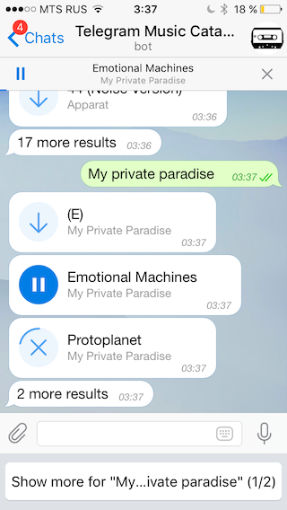 musica telegram ios