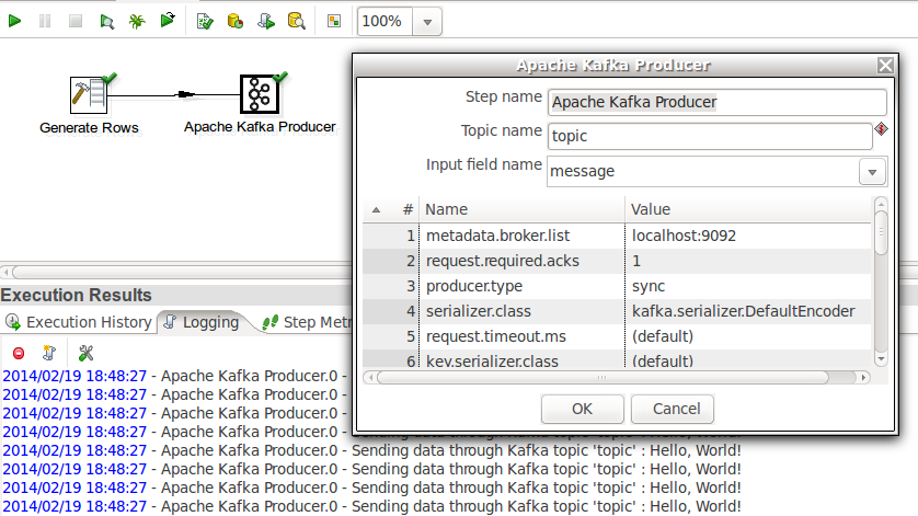 Using Apache Kafka Producer in Kettle
