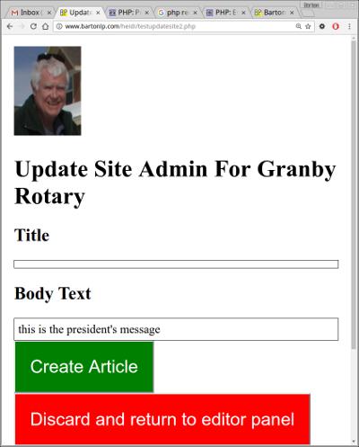 Screenshot of updatesite-simple-preview.php