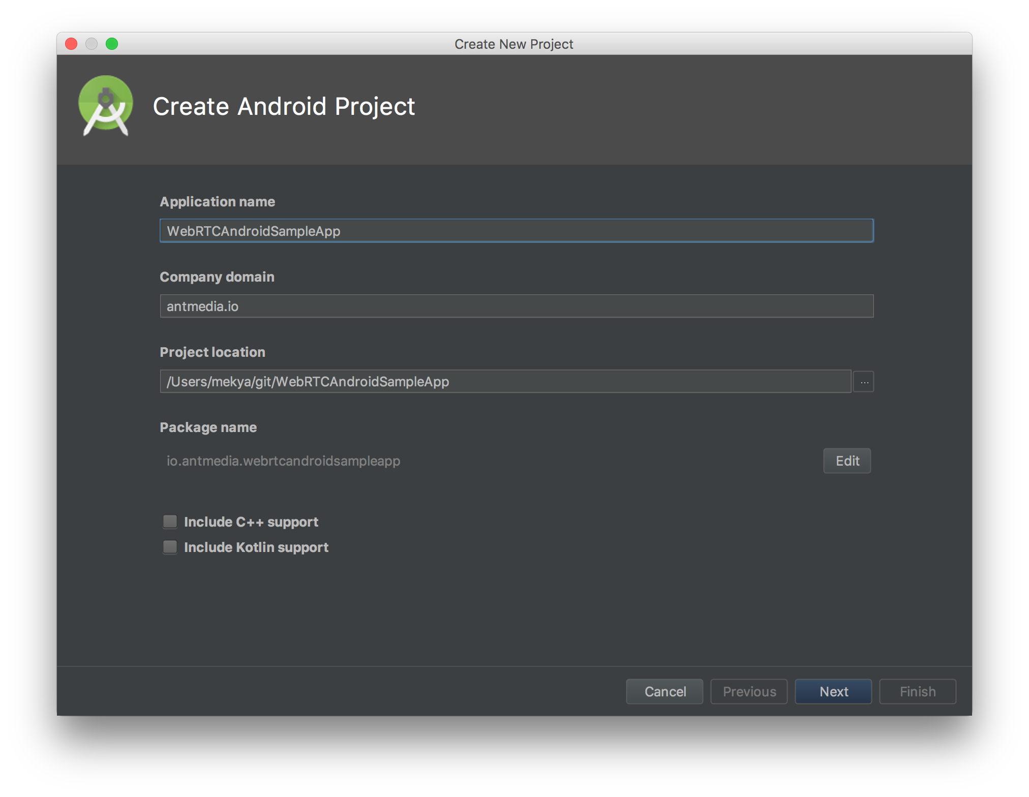 Step by Step Guide to Build WebRTC Native Android App · ant-media