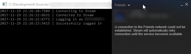 Logging in with bot causes Steam to go offline · Issue #492