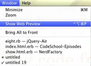 Show Web Preview