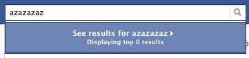 Facebook Empty Results