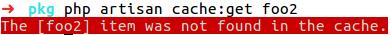 Retrieve item from cache: error