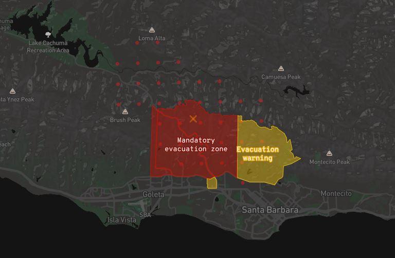 Evacuation zones tweet image