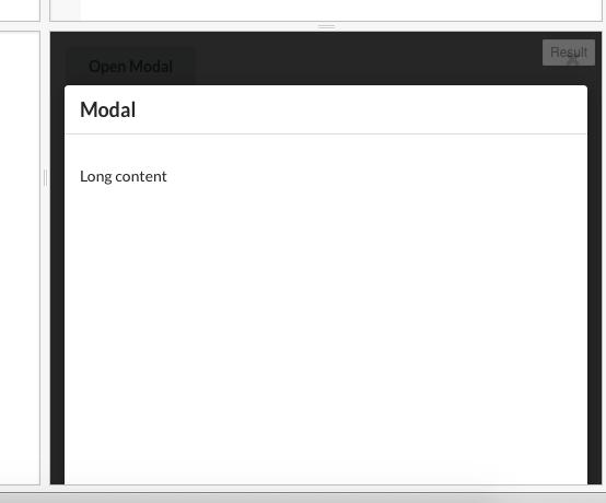 Modal] Close Position in Scrolling Modal Offscreen When