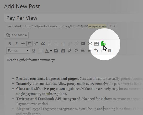 PPV Editor button