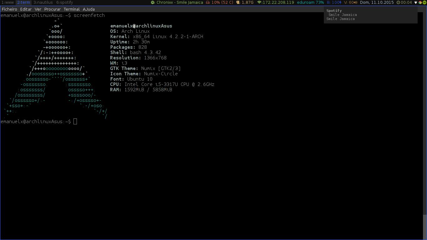 GitHub - emanuellopes/dotfiles: dotfiles arch linux+i3