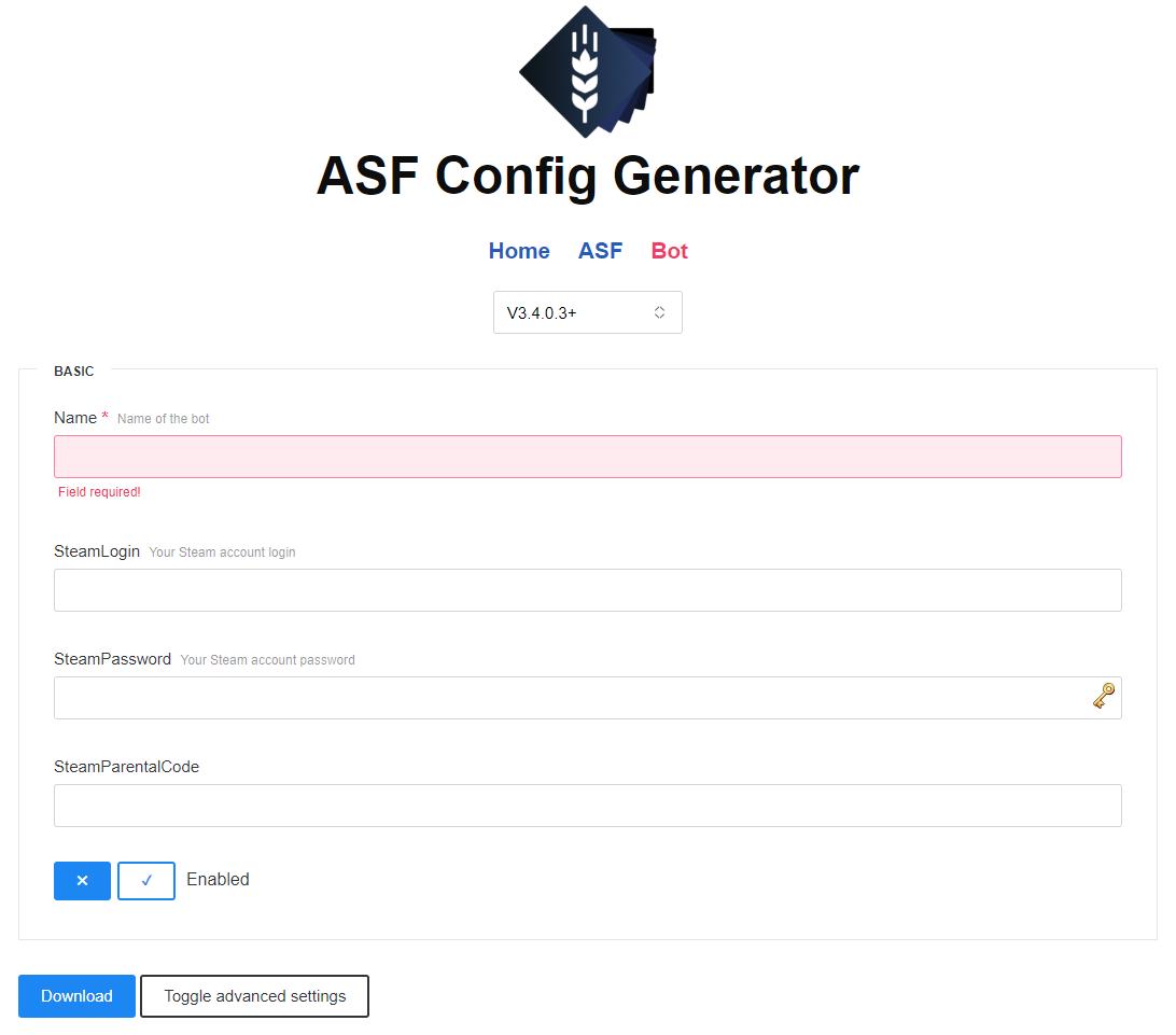 Setting up · JustArchiNET/ArchiSteamFarm Wiki · GitHub