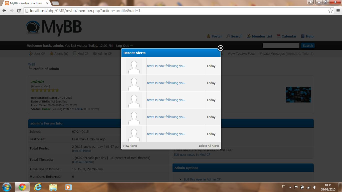 GitHub - EvolSoft/Followers-Following-Plugin-for-MyBB: A MyBB plugin