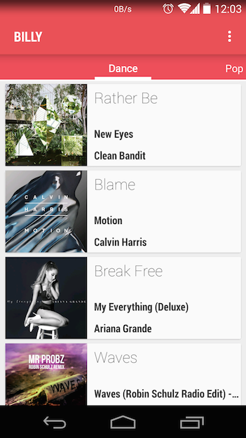 GitHub - bkgummadi/Billy: A Billboard music charts app for