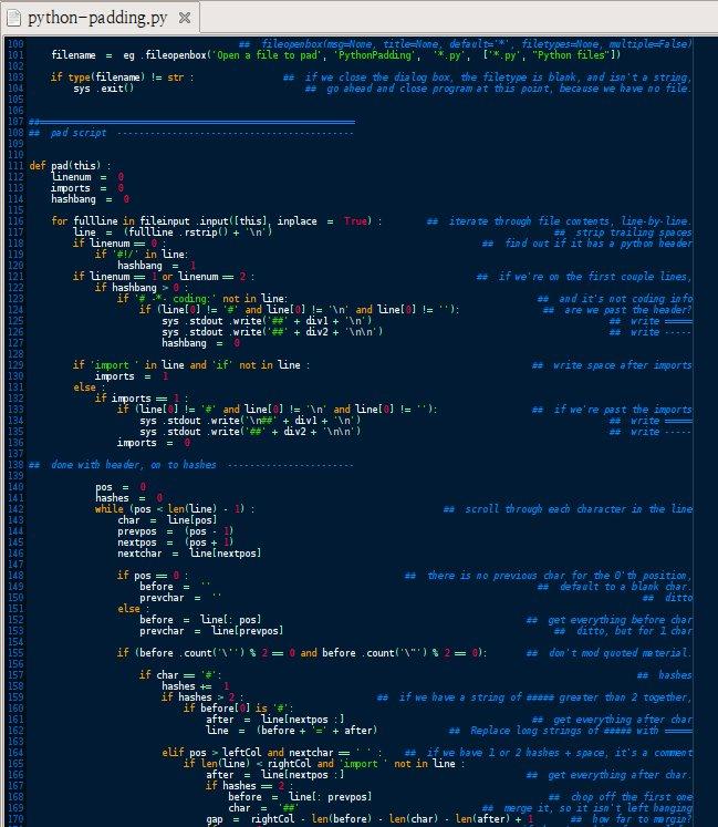 Python script to add spacing to Python scripts  · GitHub