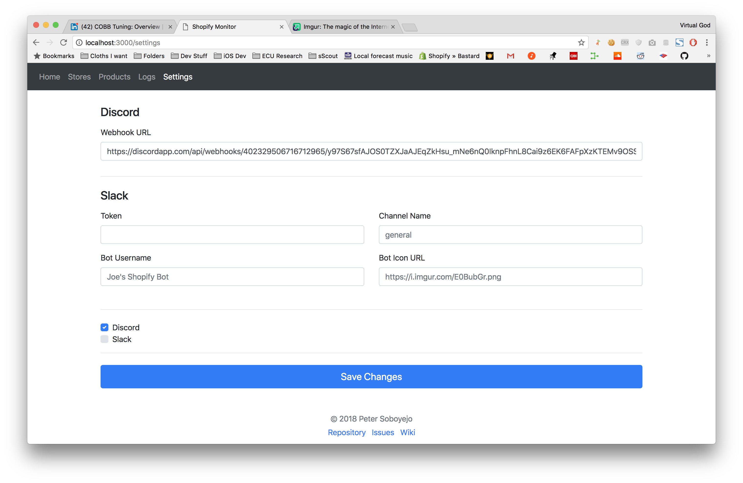 GitHub - dzt/shopify-monitor: Updates you on the latest
